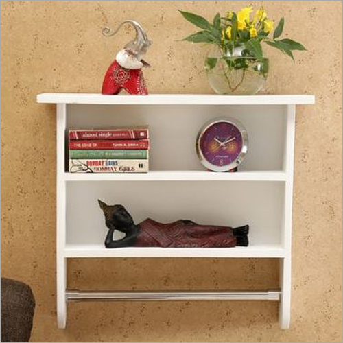 Wall Mount Wooden Bookcase