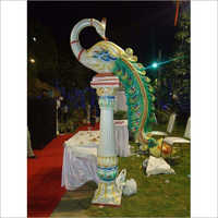 Fiber Peacock Statue