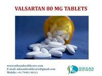 VALSARTAN 80 MG TABLETS