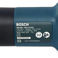 Bosch Gws 600 4'' Angle  Grinder Machine