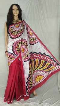 Screen Print Saree