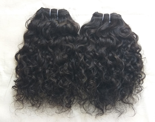 Natural Temple Donated Curly Hair Extension