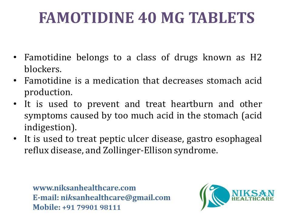 FAMOTIDINE 40 MG TABLETS