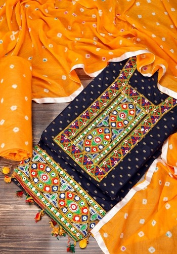 COTTON DRESS MATERIAL WITH WORK