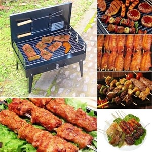 Briefcase Style Charcoal Barbecue Grill