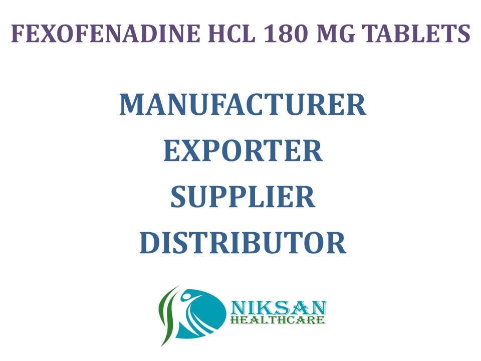 FEXOFENADINE HCL 180MG TABLETS