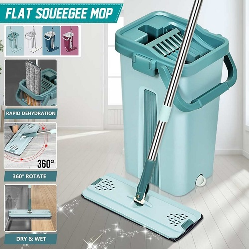 Flat Mop With Bucket Set (New Colors)