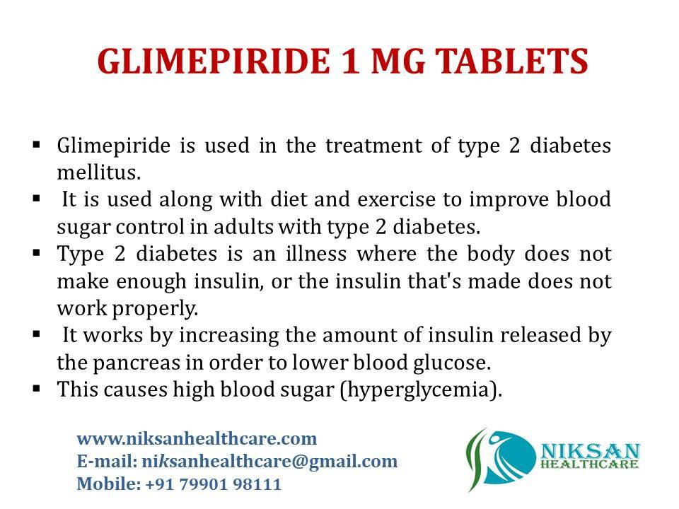 GLIMEPIRIDE 1 MG TABLETS