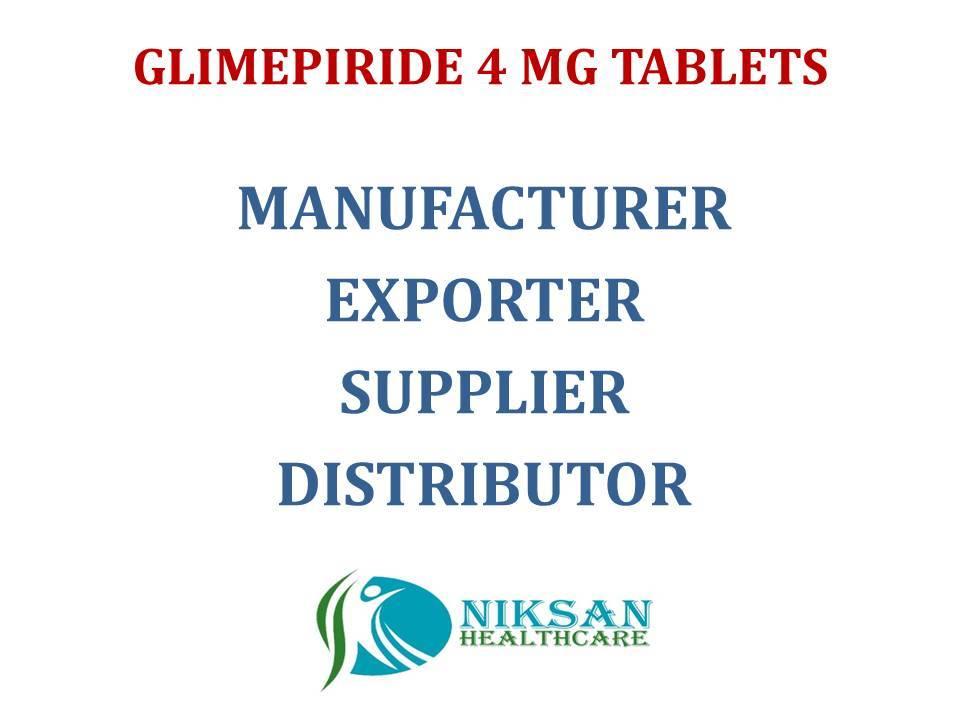 GLIMEPIRIDE 4 MG TABLETS