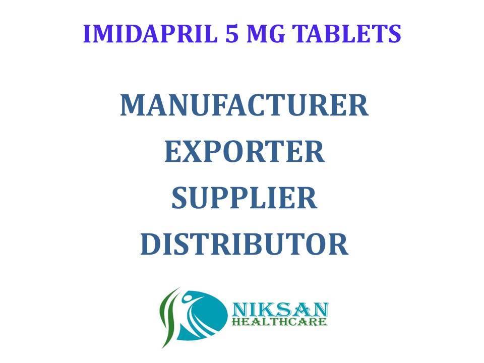 IMIDAPRIL 5 MG TABLETS