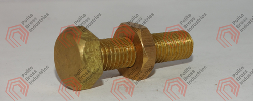 brass hex head nut bolts