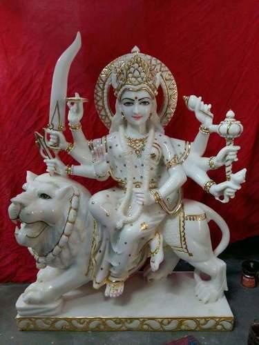 Marble Ma Durga Devi Moorti