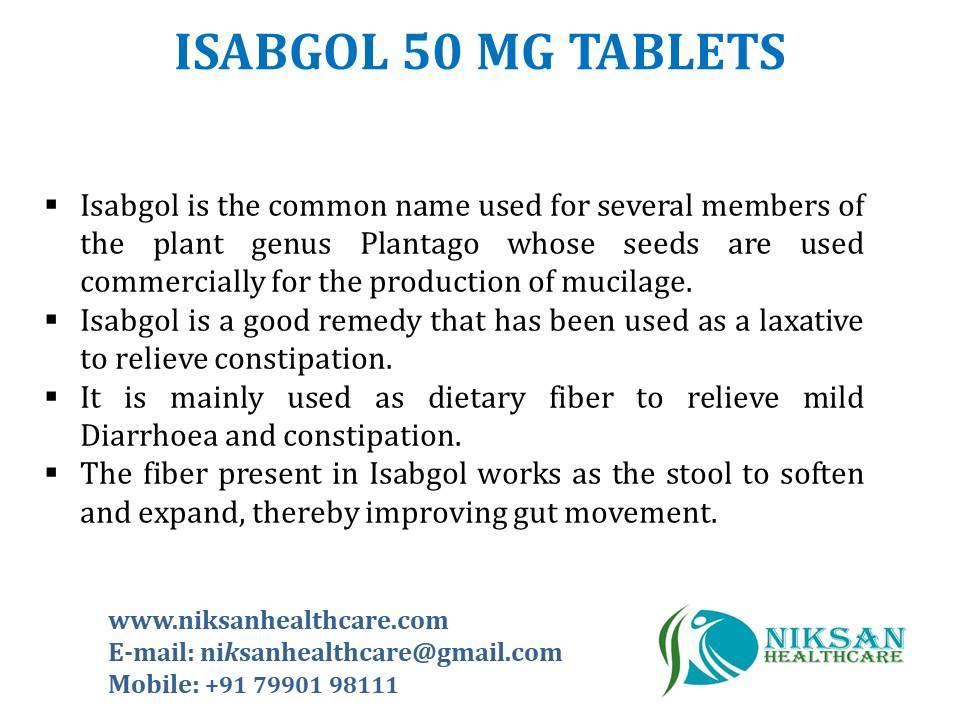 ISABGOL 50 MG TABLETS