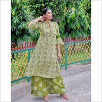Ladies Mehendi Color Ethnic Suit