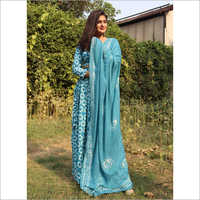 Ladies Turquoise Ethnic Suit