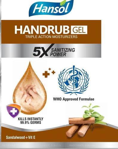 Hansol Sandalwood Gel Hand Sanitizer 250 Ml Age Group: Men