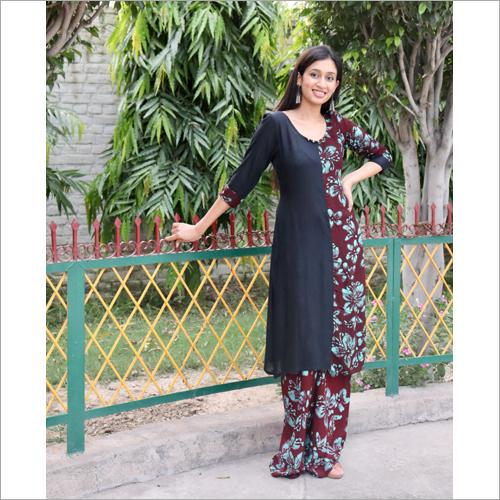 Ladies Black iB Ethnic Suit