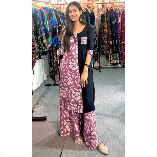 Ladies Designer Lavender Ethnic Suit