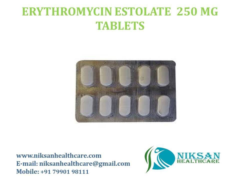 ERYTHROMYCIN ESTOLATE 250 MG TABLETS