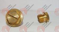 Brass plug nut
