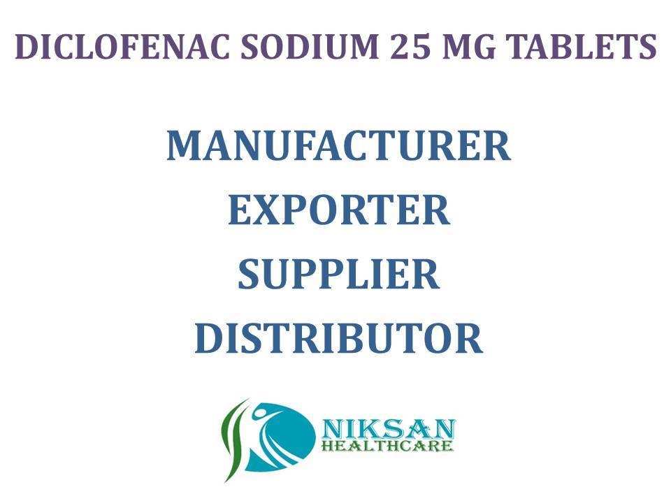 DICLOFENAC SODIUM 25 MG TABLETS