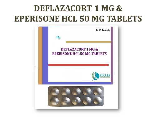 DEFLAZACORT 1 MG &EPERISONE HCL 50 MG TABLETS