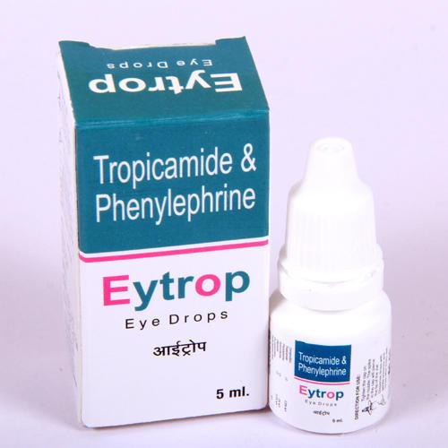 Tropicamide 0.8% & Phenylephrine 5% HCL.