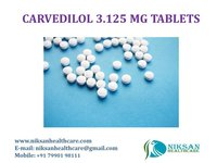 CARVEDILOL 3.125 MG TABLETS