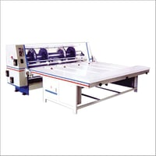 Combined Creasing Slitting Slotting And Corner Cutting Machine