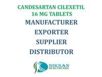 CANDESARTAN CILEXETIL 16 MG TABLETS