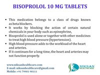BISOPROLOL 10 MG TABLETS