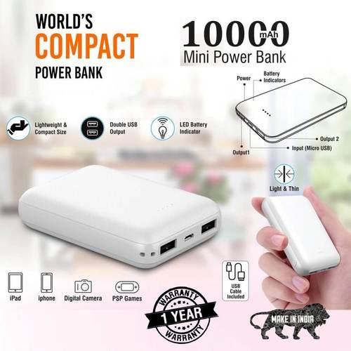 10000mAh Mini 10 Power Bank