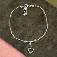 MZ AT-20107 Pink Rose Quartz Gemstone Anklet 925 Sterling Silver handmade Beaded Anklet For Girls