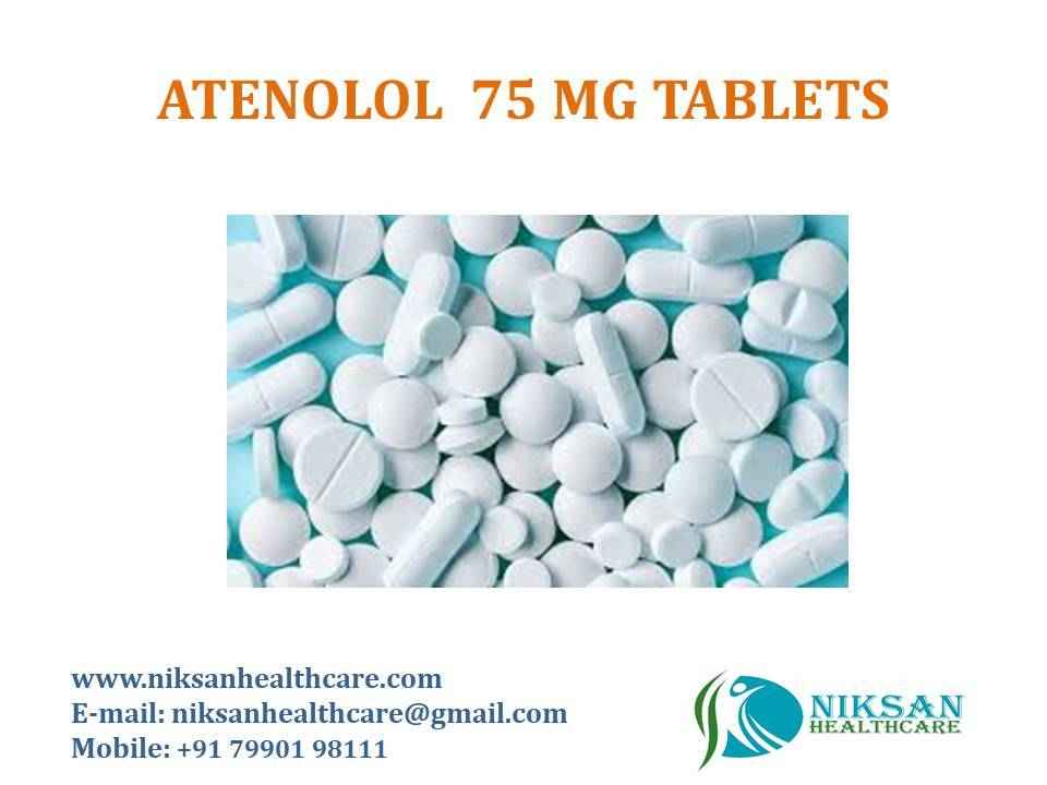 ATENOLOL 75 MG TABLETS