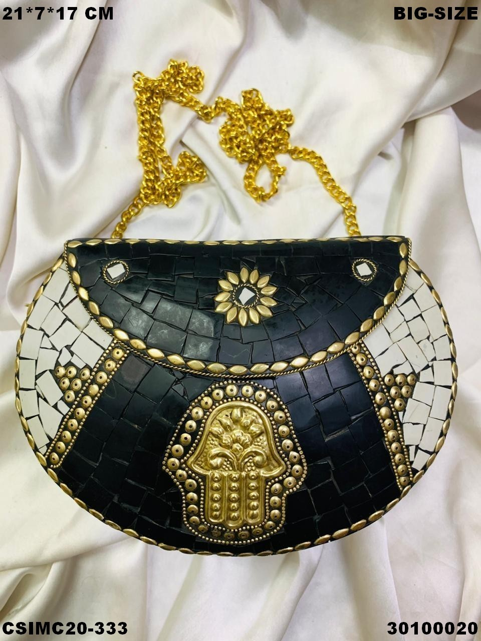 Trendy Metal Mosaic Clutches