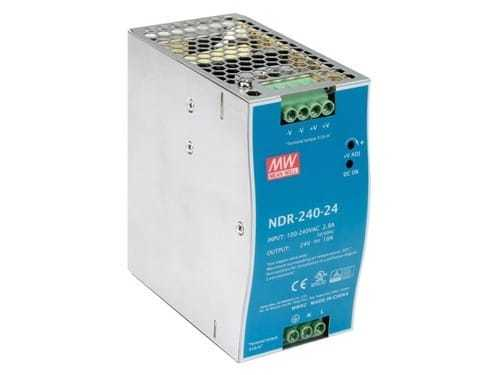 NDR-240-24 MEANWELL POWER SUPPLY SMPS 10A 24V DC