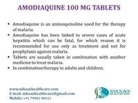 AMODIAQUINE 100 MG TABLETS