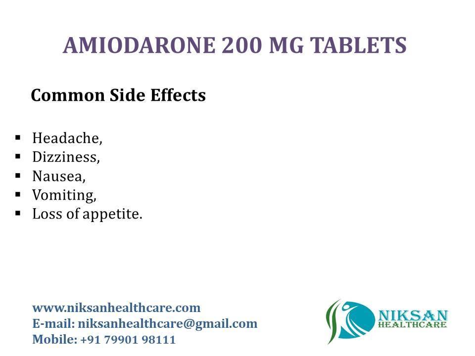 AMIODARONE 200 MG TABLETS