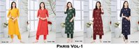 Paris Vol-1 Poly Makhhan Kurtis