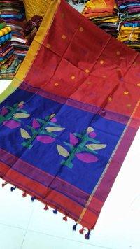 Tree Design Cotton Silk Jamdani