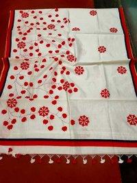 Applique Cotton Silk Saree