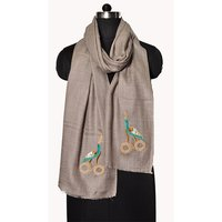 Fine Wool Signature Beaded Stole