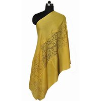 Fine Wool Eye Design Lace Stole