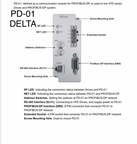 Delta PROFIBUS-DP Communication Module