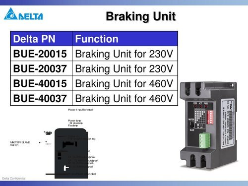 Dynamic Braking Unit for Delta E Drives 2.2KW-3.7KW 415V