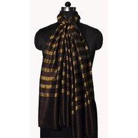 Fine Wool Zari Lines Stole