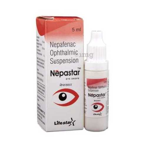 Nepafenac 0.10% eye drop.