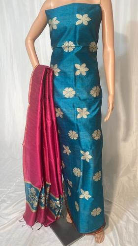 BEAUTIFULL POLY DUPION RAW SILK KURTI 2.5 MTRS DUPATTA 2.5 MTRS (NO BOTTOM) .
