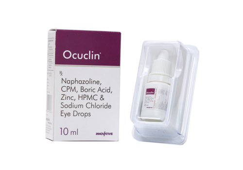 Naphazoline, CPM, Boric Acid, Zinc, HPMC & Sodium Chloride Eye Drop.