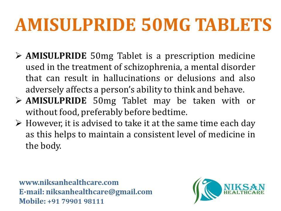 Amisulpiride 50mg Tablets
